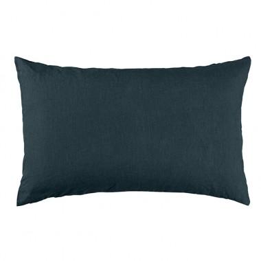 Lookbook chambre & linge de lit couleurs bleu canard & charbon