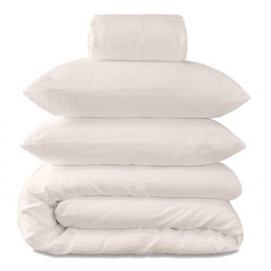 Parure de lit bébé en lin lavé uni