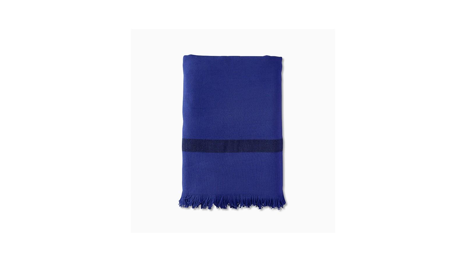Fouta éponge 90 x 200 cm en coton bio Bleu Klein