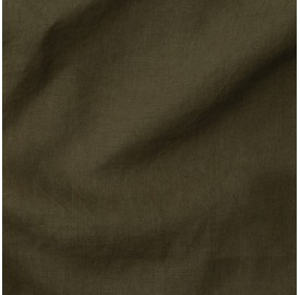 Paire de taies d'oreiller rectangulaires en lin lavé 50 x 70 cm - Bleu paon
