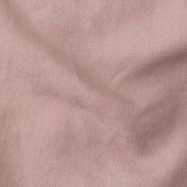 Housse de couette bébé en lin lavé 100 x 140 cm Rose buvard