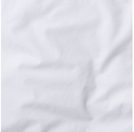 Taie de traversin en lin lavé - Blanc optique
