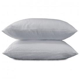 Housses de couette en pur lin lav pour lit 2 personnes for Housse de couette bleu nuit