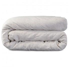 Parure en pur lin lavé rayée ou chinée pour lit bébé