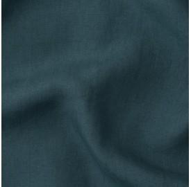 Lin lavé uni Bleu Coin Coin