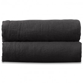 Lookbook chambre & linge de lit couleurs noir charbon et gris