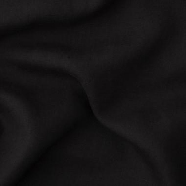Lin lavé uni Noir Noir