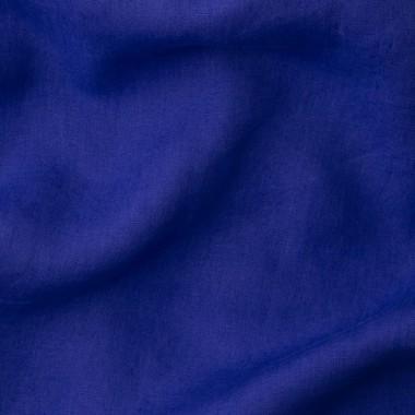 Lin lavé uni Bleu Klein