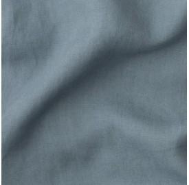 Lin lavé uni Bleu Orage