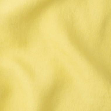 Lin lavé uni Jaune Limonade