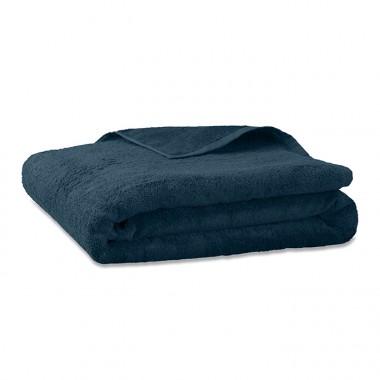 Drap de bain en éponge de coton bio Bleu Pétrole