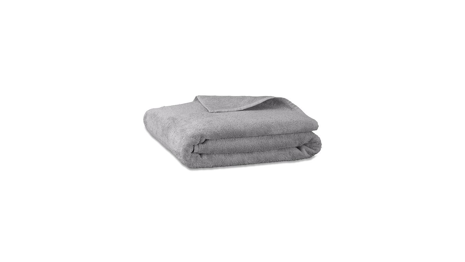 Drap de bain en éponge de coton bio Gris Ciment