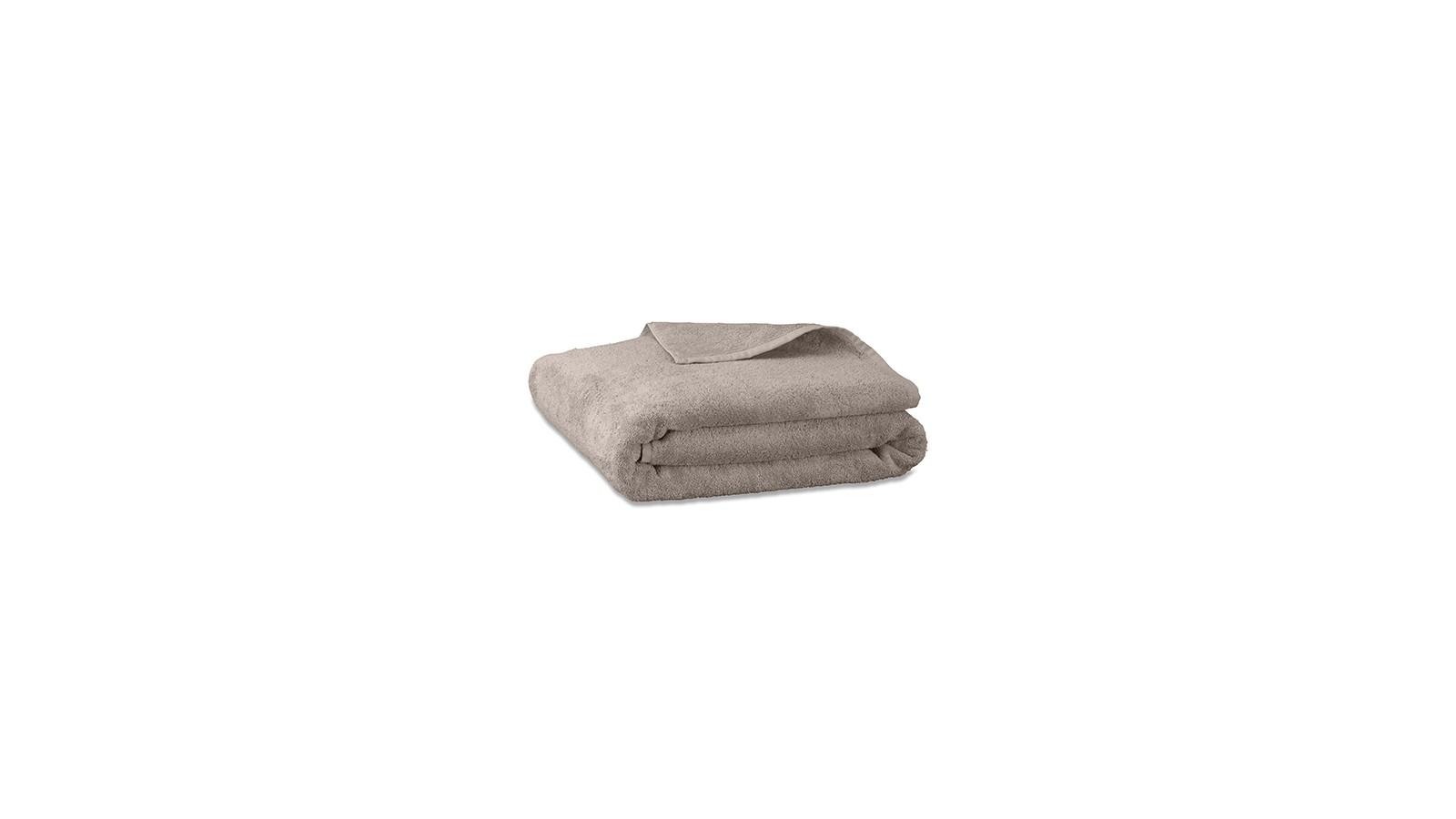 Serviette de bain en éponge de coton bio Argile