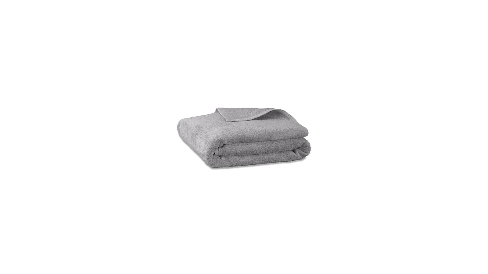 Serviette de bain en éponge de coton bio Gris Ciment