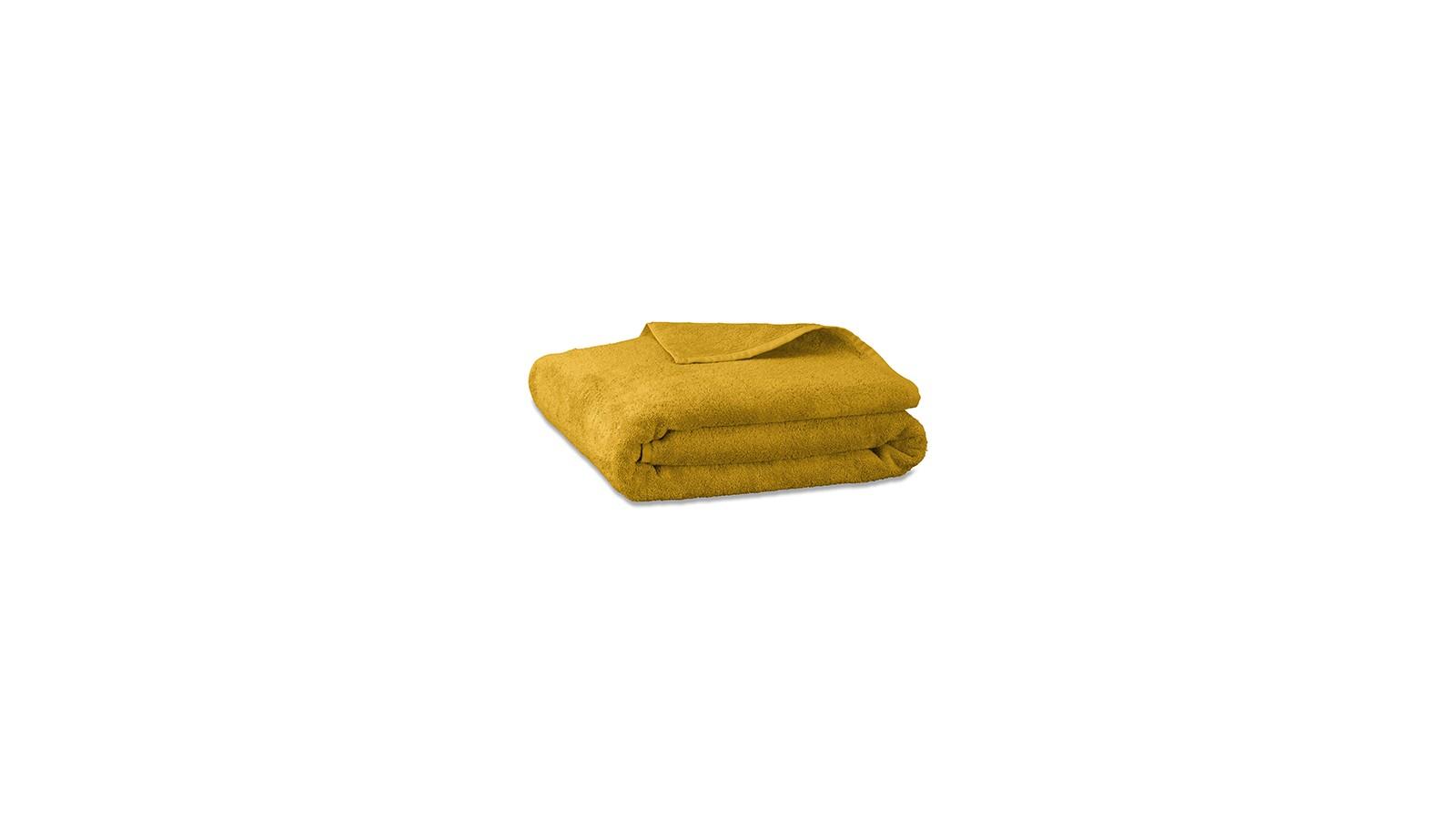 Serviette de bain en éponge de coton bio Jaune Safran