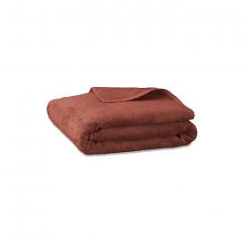 Serviette de bain en éponge de coton bio Orange Terracotta