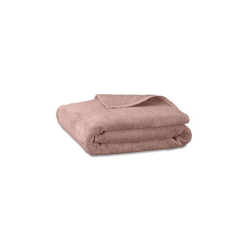 Serviette de bain en éponge de coton bio Rose Rétro