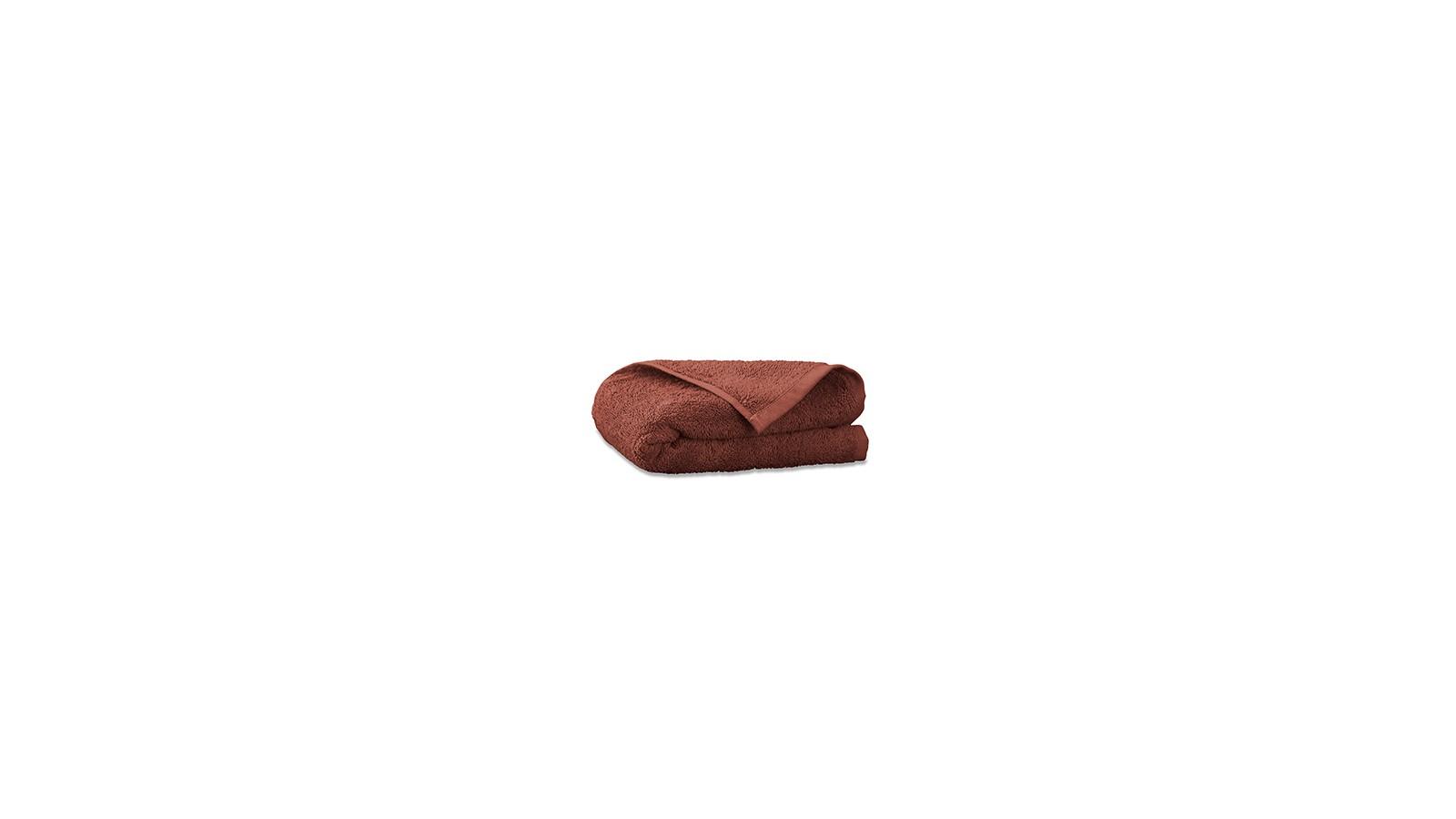 Serviette invité en éponge de coton bio Orange Terracotta