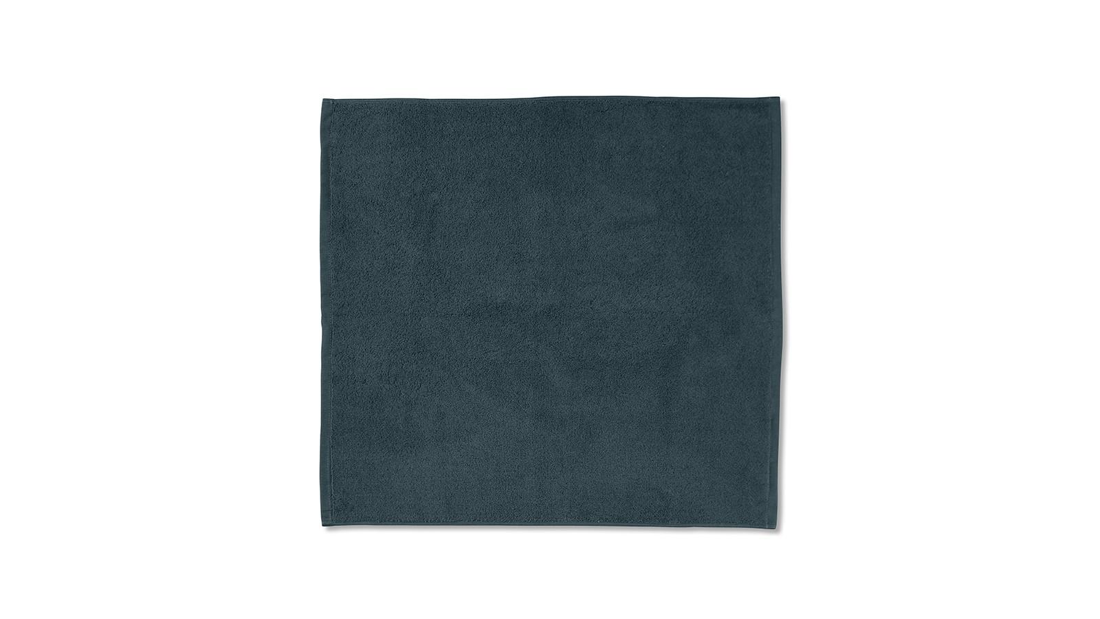 Tapis de bain en éponge de coton bio Bleu Coin Coin