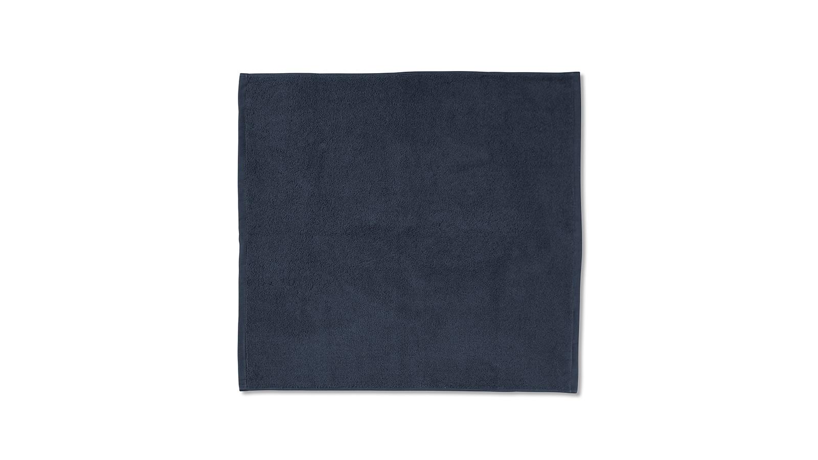 Tapis de bain en éponge de coton bio Bleu Encre