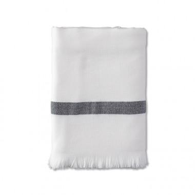 Fouta éponge 90 x 200 cm en coton bio Blanc Optique