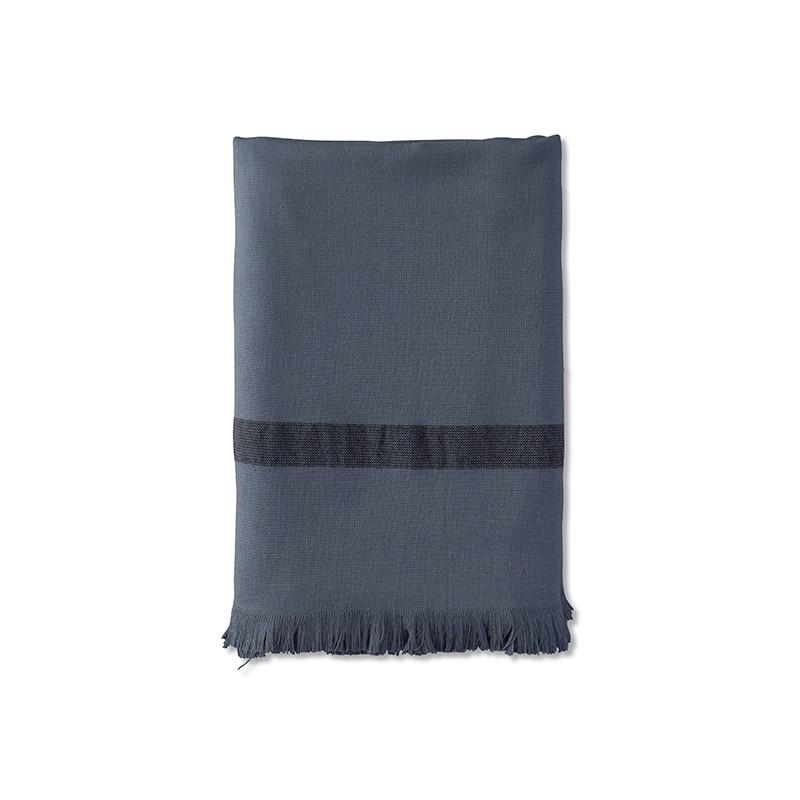 Fouta éponge 90 x 200 cm en coton bio Bleu Encre