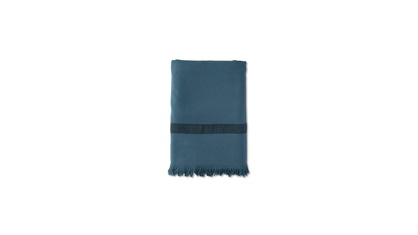 Fouta éponge enfant 70 x 140 cm en coton bio Bleu Pétrole
