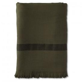 Fouta 2 places éponge 200 x 200 cm en coton bio Vert Kaki