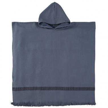 Poncho enfant en éponge de coton bio Bleu Encre