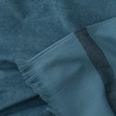 Fouta éponge Bleu Pétrole