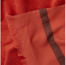 Fouta éponge Orange Terracotta