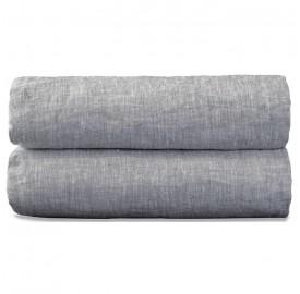 Nappe rectangulaire en lin lavé chambray Pierre