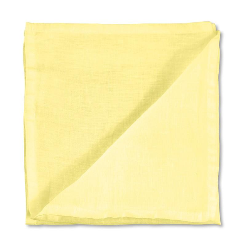 Serviette de table en lin lavé uni Jaune Limonade