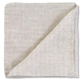Serviette de table en lin lavé chambray Lin