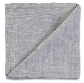Serviette de table en lin lavé chambray Pierre