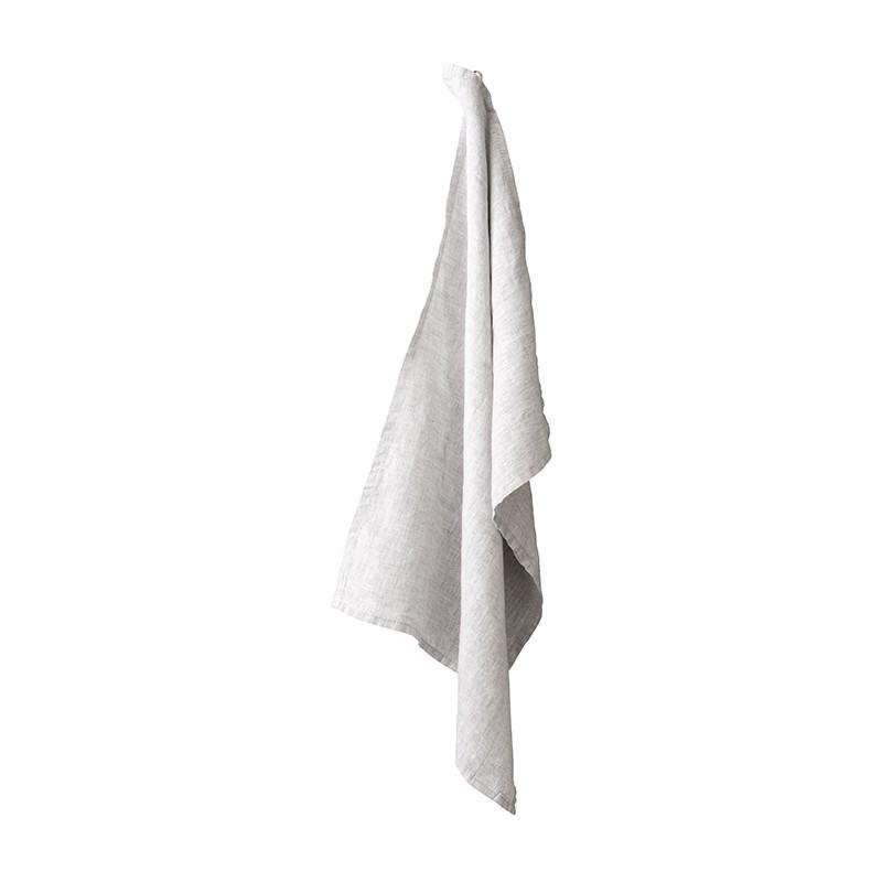 Torchon en lin lavé chambray Pierre