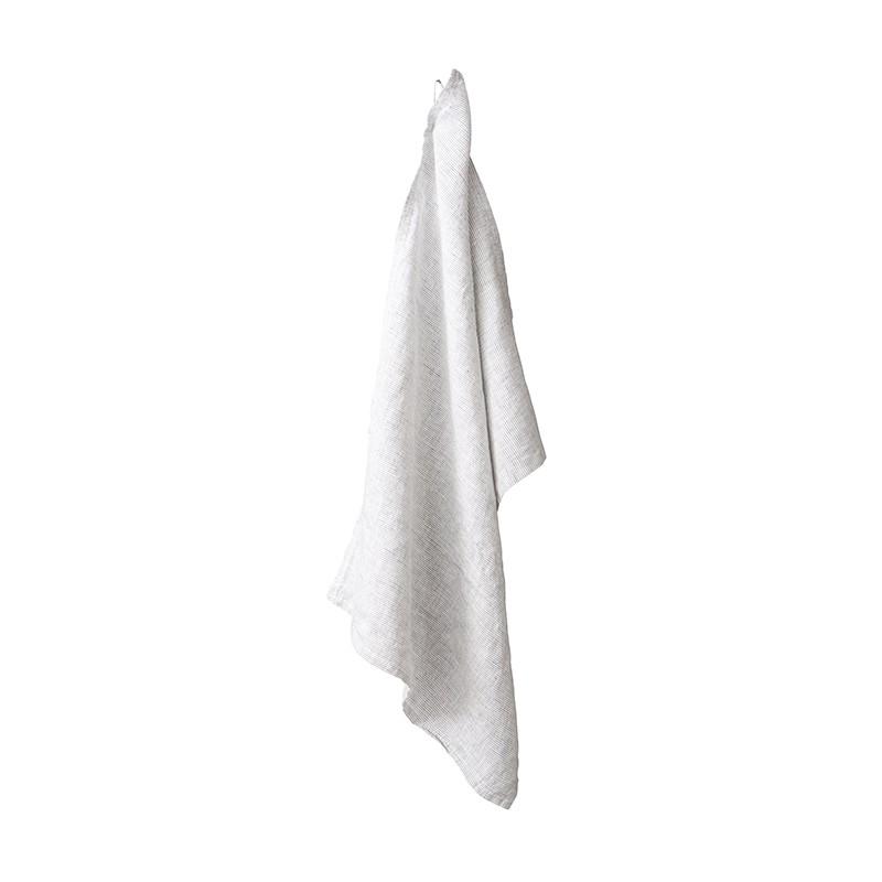 Torchon en lin lavé chambray Rayure Colette Denim