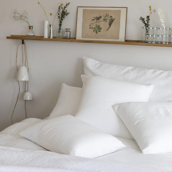 Linge de lit en percale de coton lavé bio
