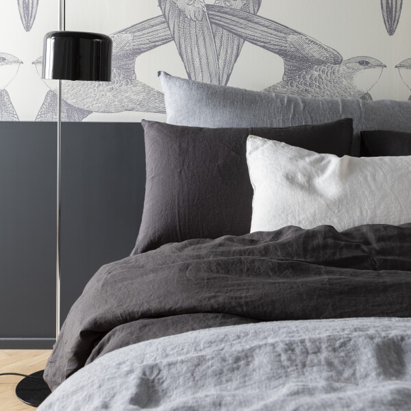 Linge de lit en lin lavé chambray